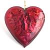 Glass Lamp Pendant Heart 26mm Rose/Silver